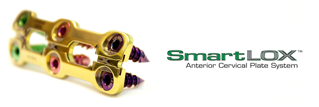 SmartLOX Cervical Plate System Header Image and Logo
